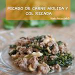 Picado de carne molida y kale