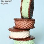 Sandwich de helado!! Sin gluten, sin lacteos, sin azucar refinada