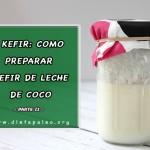 Cómo preparar kefir de leche de coco